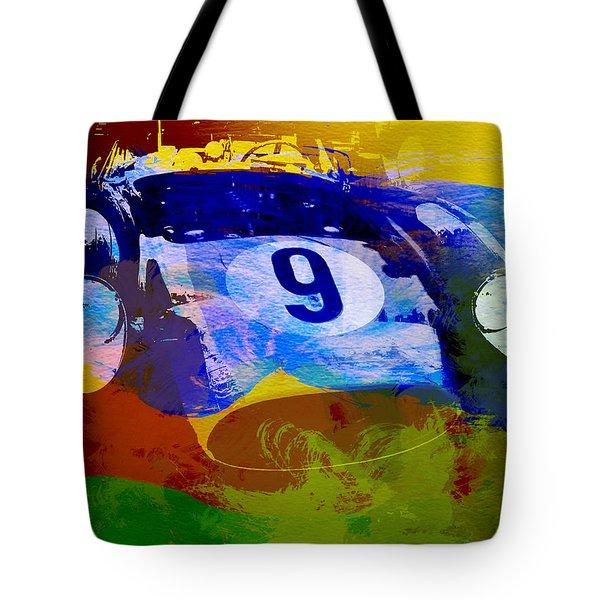Ferrari Testarossa Watercolor Tote Bag