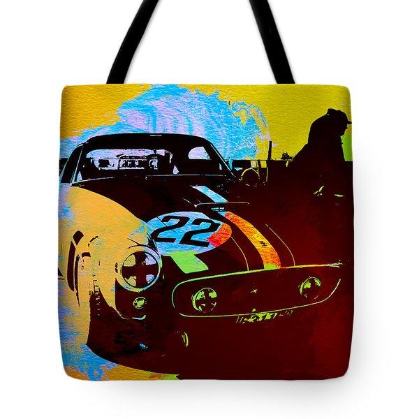 Ferrari Watercolor Tote Bag