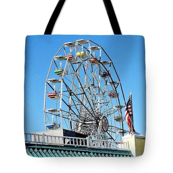 Ferris Wheel Tote Bag by Allen Beilschmidt