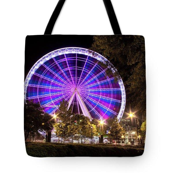 Ferris Wheel At Centennial Park 1 Tote Bag