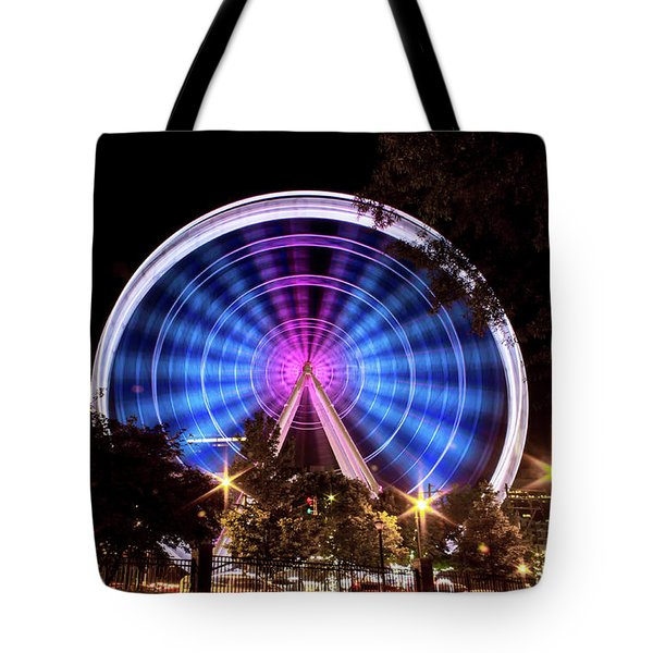 Ferris Wheel At Centennial Park 2 Tote Bag