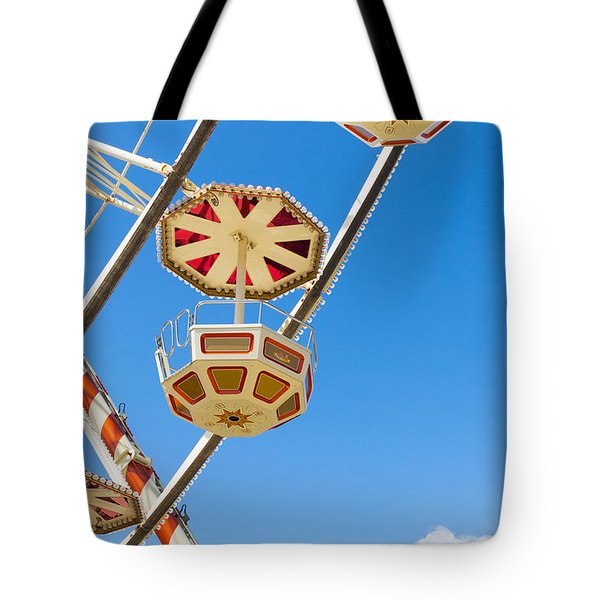 Tote Bag featuring the photograph Ferris Wheel Cars In Toulouse by Semmick Photo