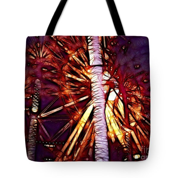 Tote Bag featuring the photograph Ferris Wheel  by Mariola Bitner