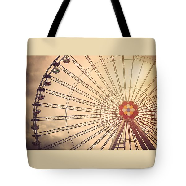 Ferris Wheel Prater Park Vienna Tote Bag by Carol Japp
