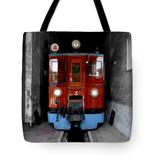 Ferrocarrril De Soller Tote Bag by Charles Stuart