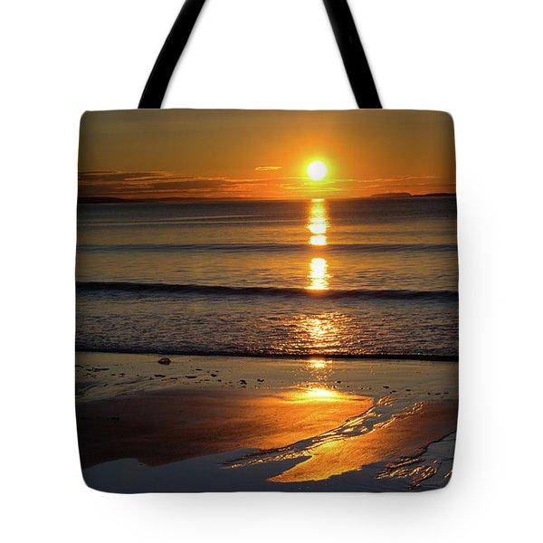 Ferry Beach Sunrise Tote Bag