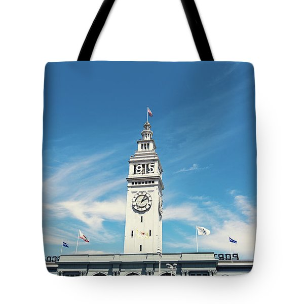 Tote Bag featuring the photograph Ferry Building San Francisco 1915 - California Photography by Melanie Alexandra Price