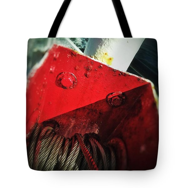 Tote Bag featuring the photograph Ferry Hardware by Olivier Calas
