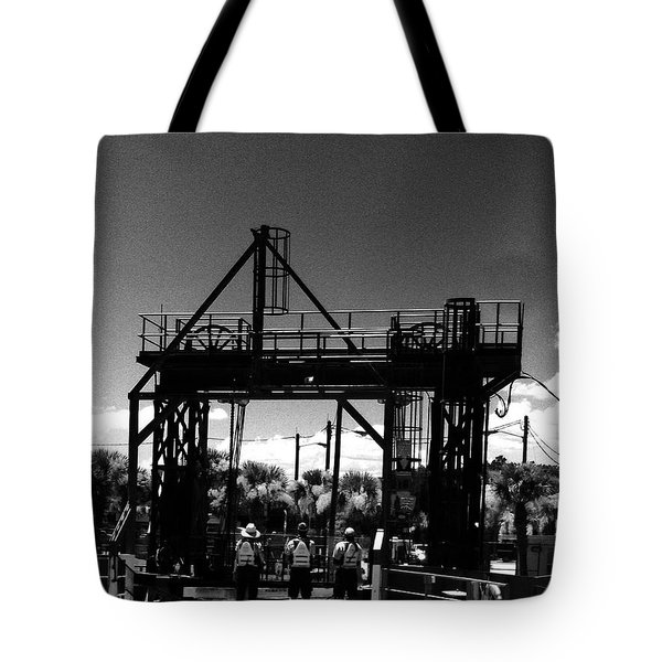 Ferry Workers Tote Bag by WaLdEmAr BoRrErO