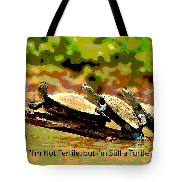 Tote Bag featuring the mixed media Fertile Turtle by Charles Shoup