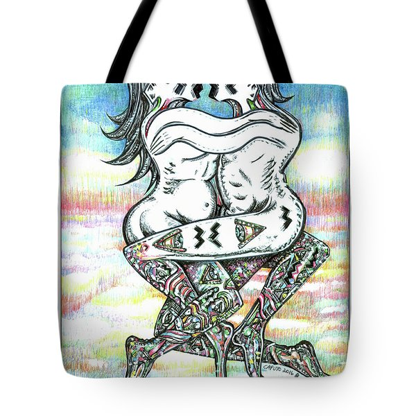 Fertility Dance With Blue Sky Tote Bag