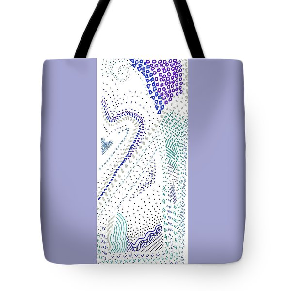Festival In Blue And Silver Tote Bag