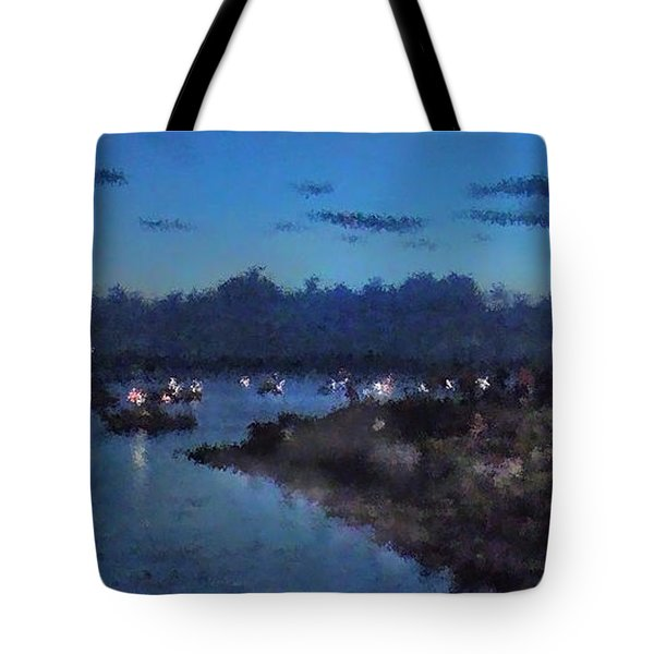 Tote Bag featuring the photograph Festival Night Land And Shore by Felipe Adan Lerma
