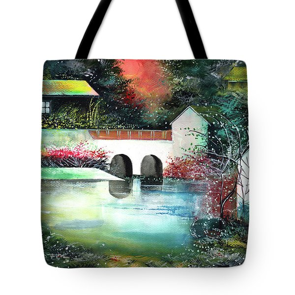 Tote Bag featuring the painting Festival Of Lights by Anil Nene
