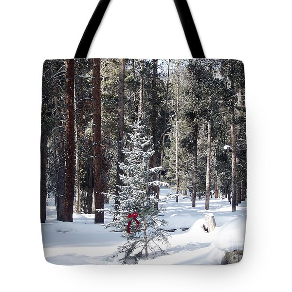 Festive Forest Tote Bag