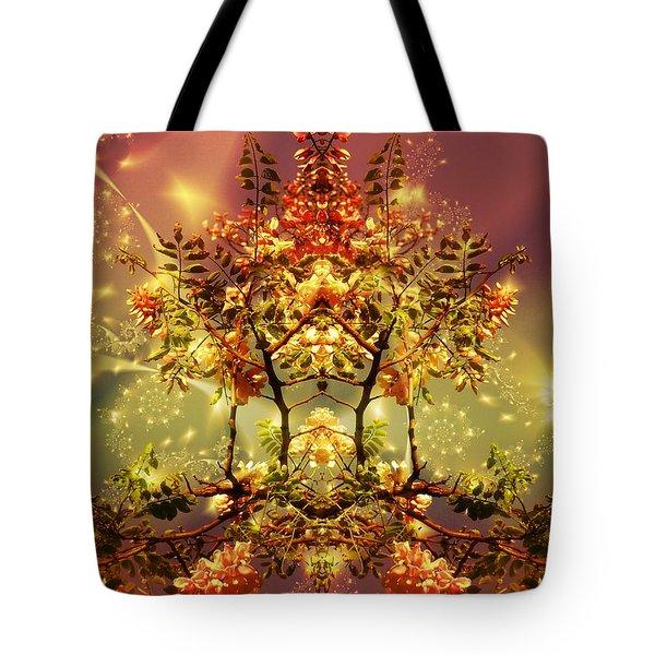 Festive Fractal Tote Bag