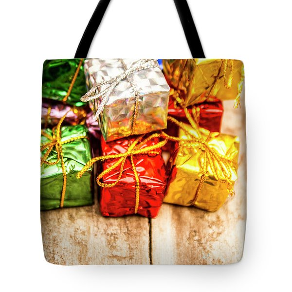 Festive Greeting Gifts Tote Bag