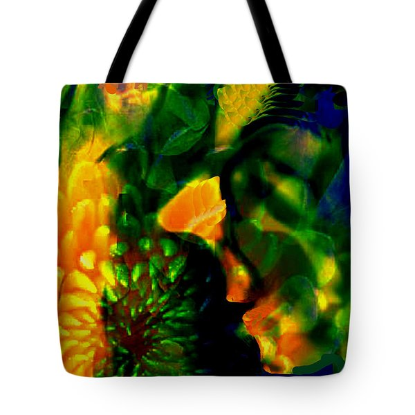 Tote Bag featuring the digital art Festive Lady by Asok Mukhopadhyay