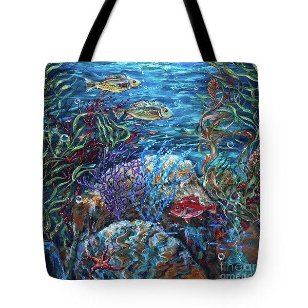 Festive Reef Tote Bag