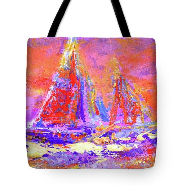 Festive Sailboats 11-28-16 Tote Bag
