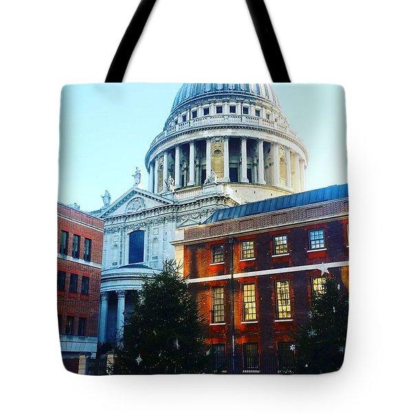 Festive St Pauls, London Tote Bag
