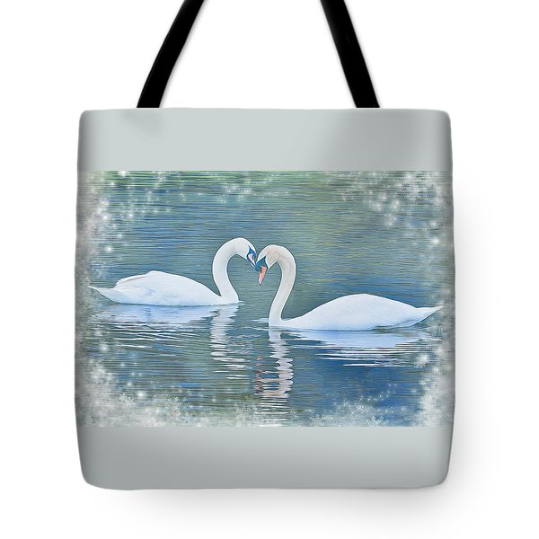Festive Swan Love Tote Bag