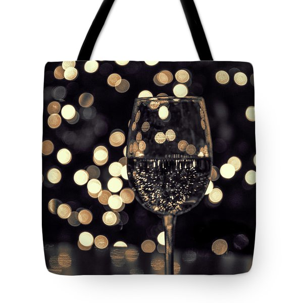 Tote Bag featuring the photograph Festive White Wine by Steven Sparks