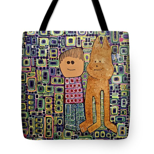 Tote Bag featuring the painting Fetch.. You Fetch by Donna Howard