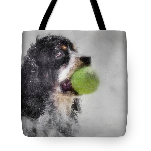 Tote Bag featuring the photograph Fetching Cocker Spaniel  by Benanne Stiens