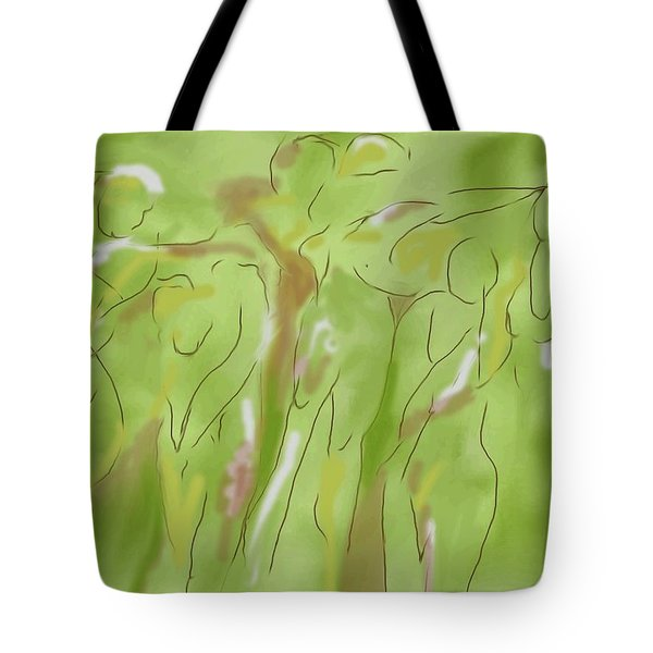 Few Figures Tote Bag by Mary Armstrong