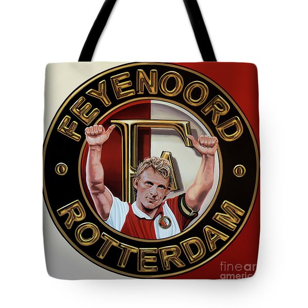 Feyenoord Rotterdam Painting Tote Bag
