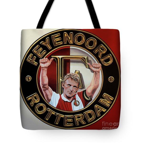 Feyenoord Rotterdam Painting Tote Bag by Paul Meijering