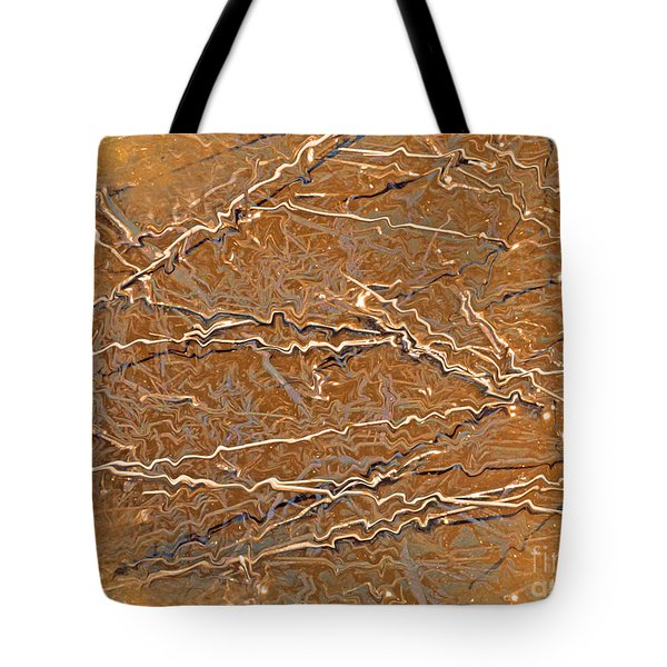 Fiber Abstract Tote Bag