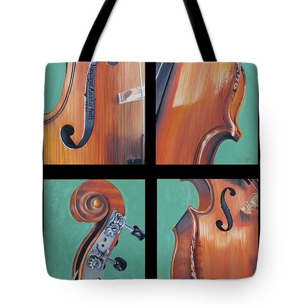 Fiddle Quartet Tote Bag by Emily Page
