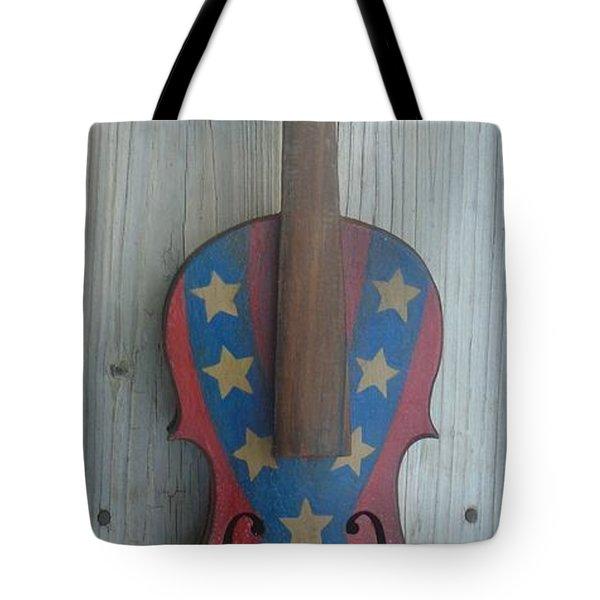 Fiddle Rebel Flag Tote Bag