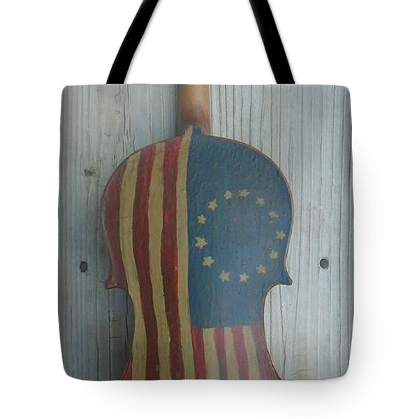 Fiddle Thirteen Star Flag Tote Bag