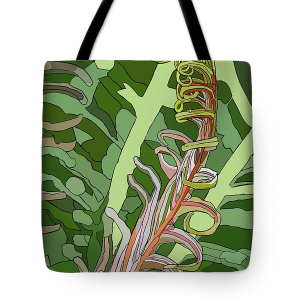 Fiddlehead Tote Bag by Jamie Downs
