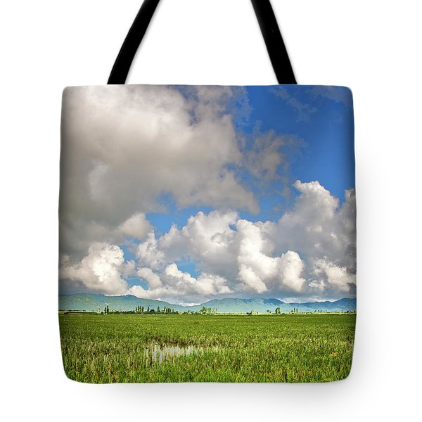 Tote Bag featuring the photograph Field by Charuhas Images