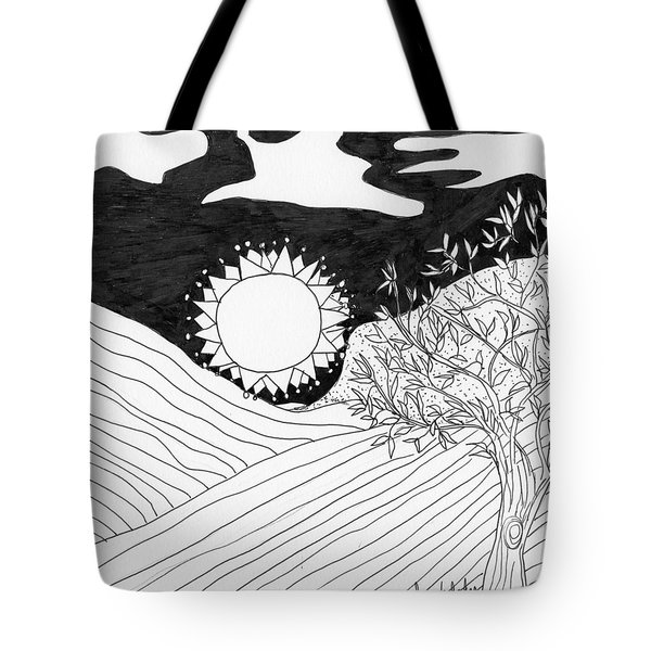 Tote Bag featuring the painting Field Day by Lou Belcher