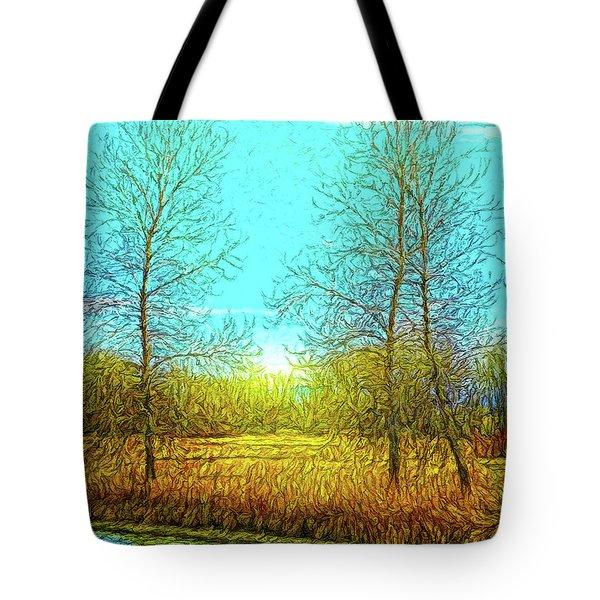 Field In Morning Light Tote Bag