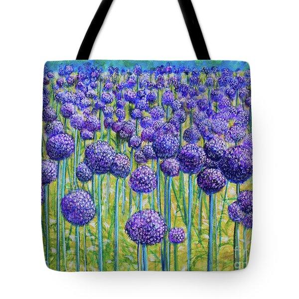 Field Of Allium Tote Bag
