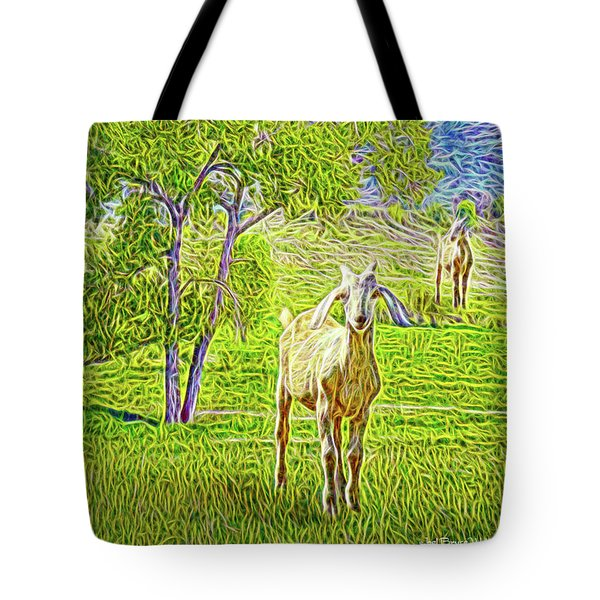 Field Of Baby Goat Dreams Tote Bag by Joel Bruce Wallach