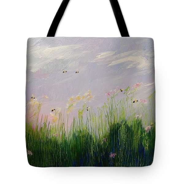 Field Of Bee's Tote Bag by Sue Furrow