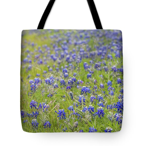Field Of Blue Bonnet Flowers Tote Bag