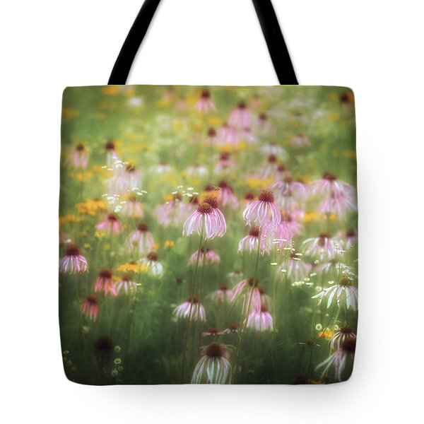 Field Of Coneflowers 5x6 Tote Bag