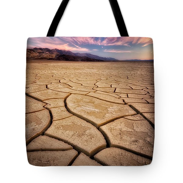 Field Of Cracks Tote Bag by Nicki Frates