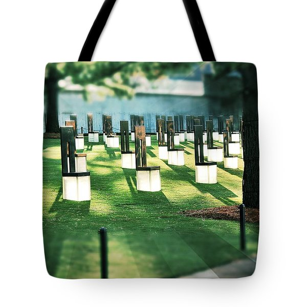 Field Of Empty Chairs Tote Bag