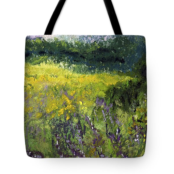 Field Of Flowers Tote Bag by David Patterson