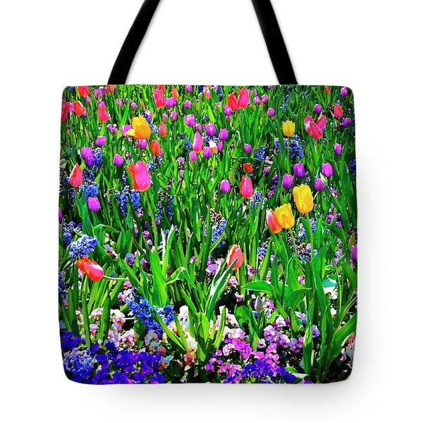 Field Of Flowers Tote Bag by Tamyra Ayles