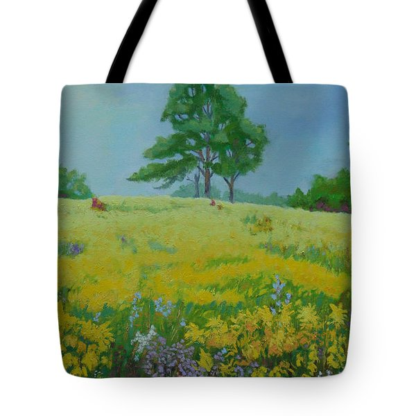 Field Of Goldenrod Tote Bag